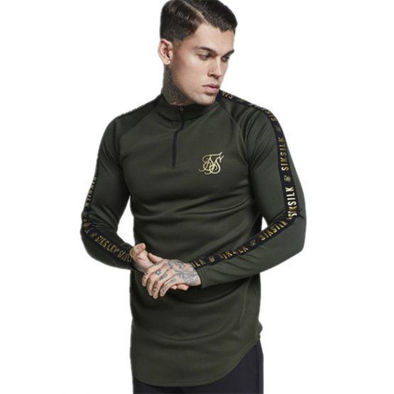Men's Longsleeved Curved Hem T-Shirt
