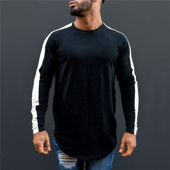 Mens Long Sleeve O-Neck T Shirt