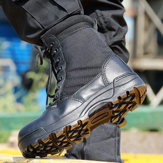 desert boots men black