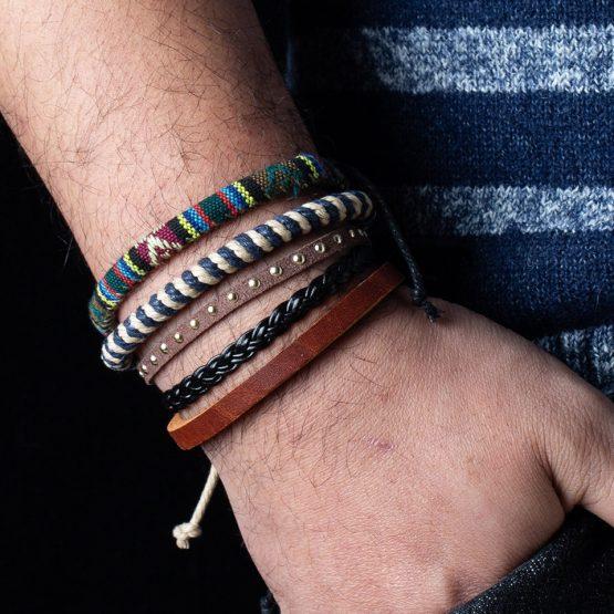 Mix Leather Bracelets Sets