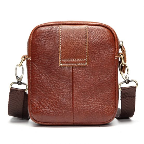 Mens Genuine Leather Vintage Crossbody Bag