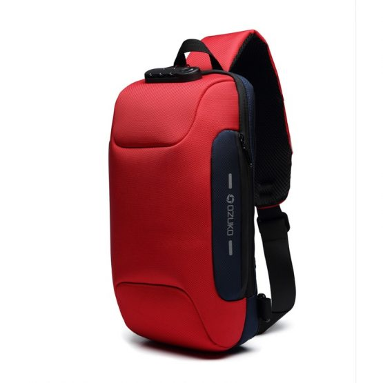 Wismun Anti Theft Sling Bag with USB Charging Port