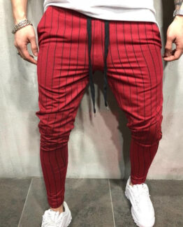 Mancino Slim Fit Stripped Joggers