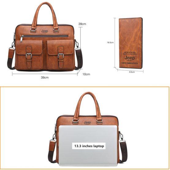 Leather Laptop Messenger Bags For Men