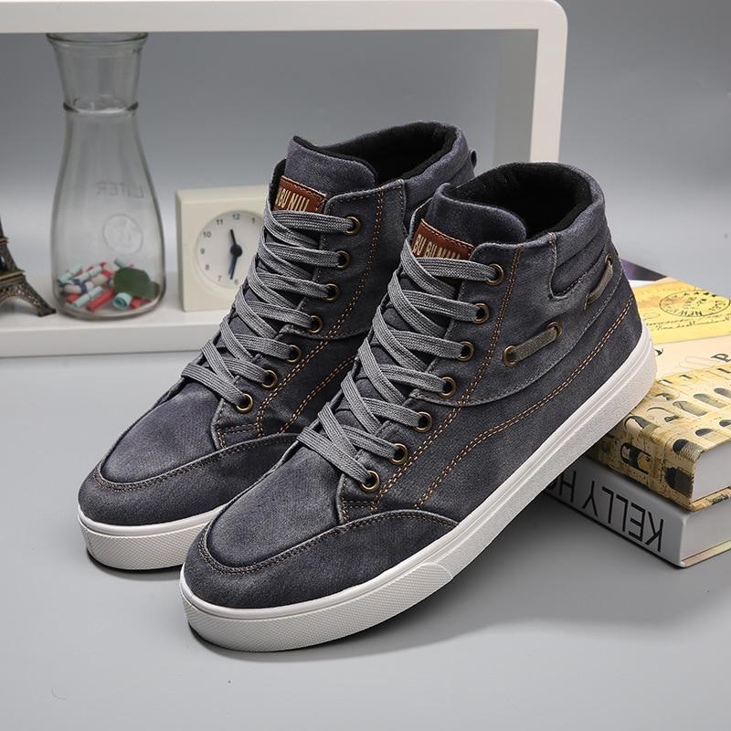 Starz Denim High Top Sneakers Men