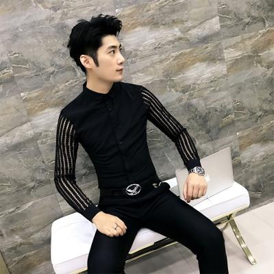 Long Sleeve Slim Fit Men's Dress Shirt