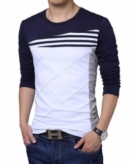 Men'S Slim Fit T Shirt - Long Sleeve