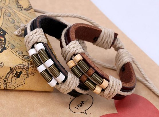 Leather Wrap Bracelets For Men