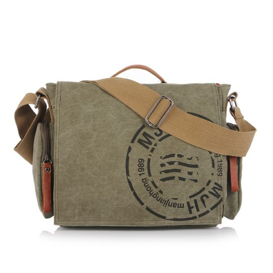 Classic Messenger Bag - Vintage Canvas Shoulder Bag - Postman Bag