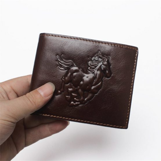 RIFD Antimagnetic Genuine Leather Wallet