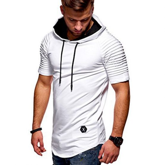 Short Sleeve Hoodie For Men