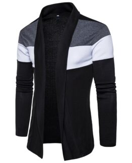 Shawl Collar Mens Cardigan -Slim Fit