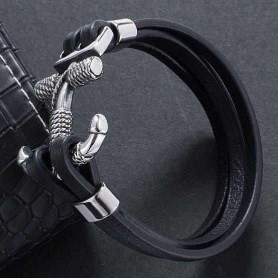 Mens Cross Anchor Bracelet