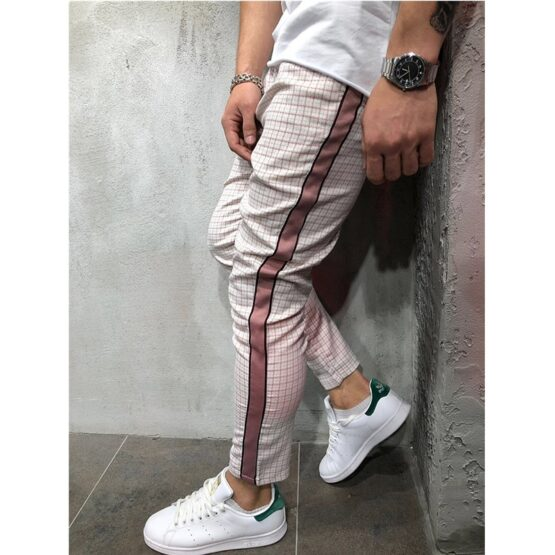TJW Plaid Joggers Mens