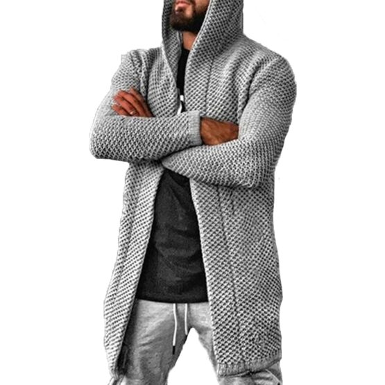 Dioxide Men's Mid Length Hooded Cardigans