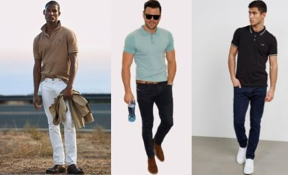 how to wear a polo shirt with jeans