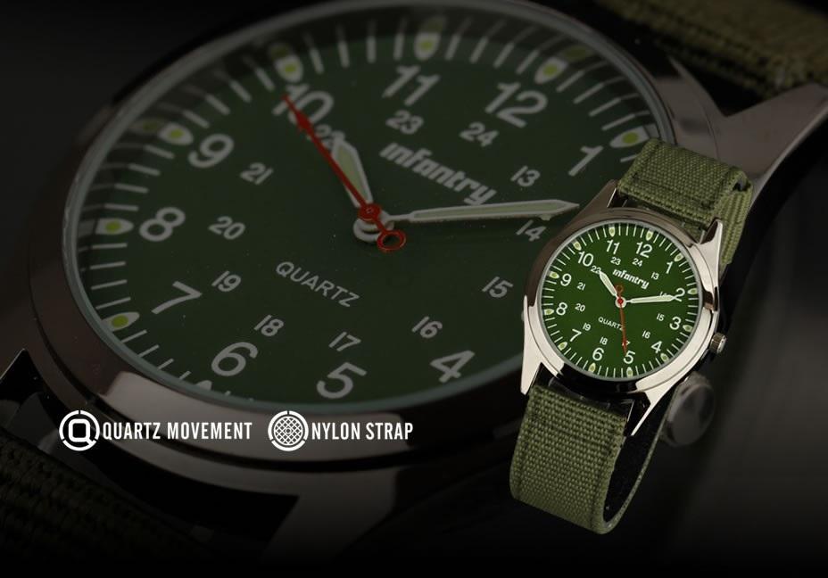 INFANTRY Men's Luminous Military Watch