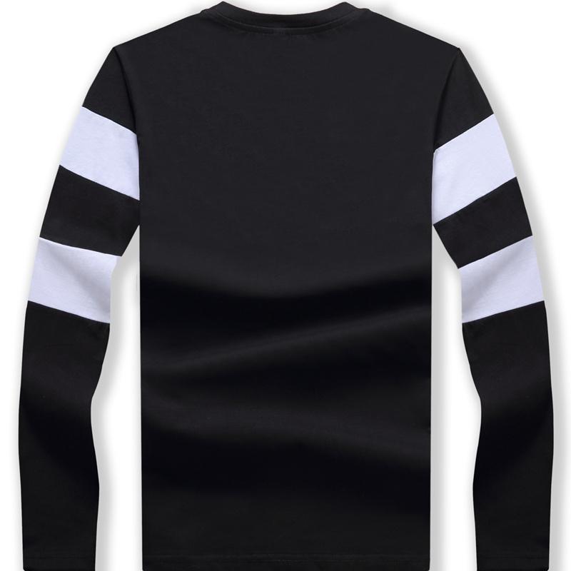 Mens Long Sleeve T Shirt O Neck Striped T Shirt