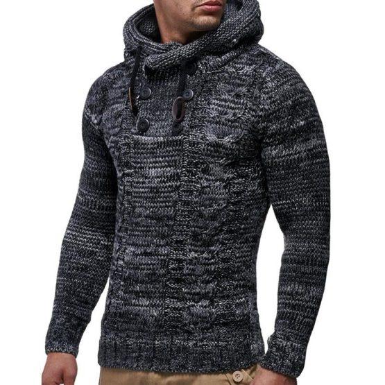 LEIF NELSON Men's Knitted Pullover Sweater LN20227NN