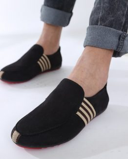 mens black and white loafers