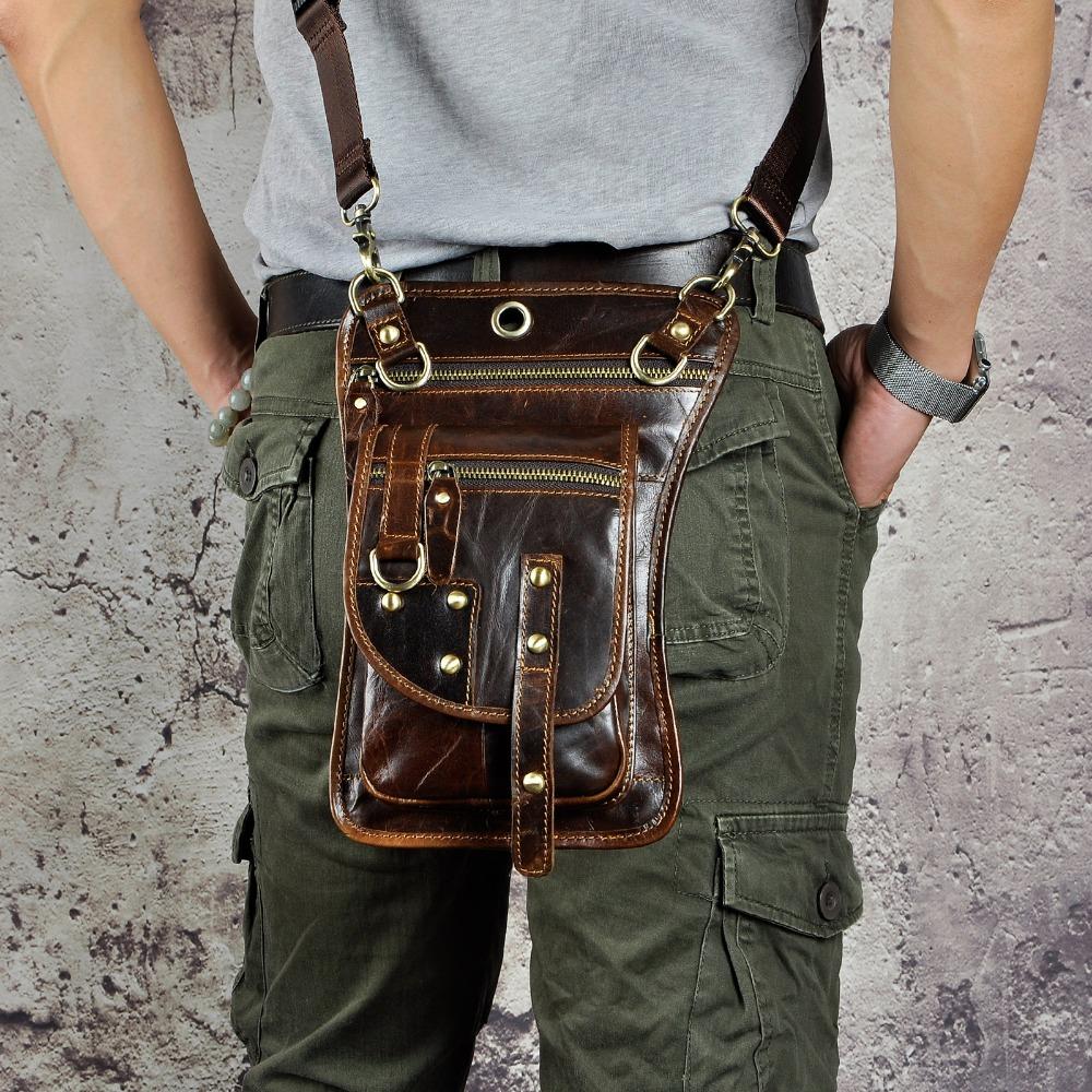 Mens Leather Belt Bag | Leather Multifunction Belt Bag