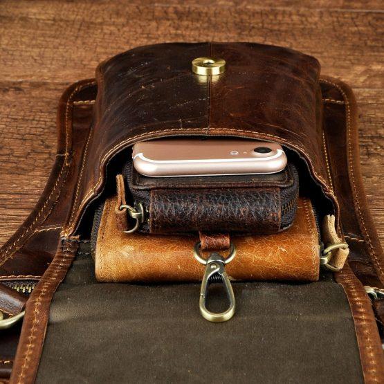 Mens Leather Belt Bag