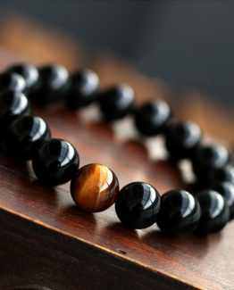 Natural-Black-Onyx-Mens-bracelets