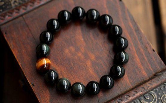 Natural-Black-Onyx-Mens-bracelets