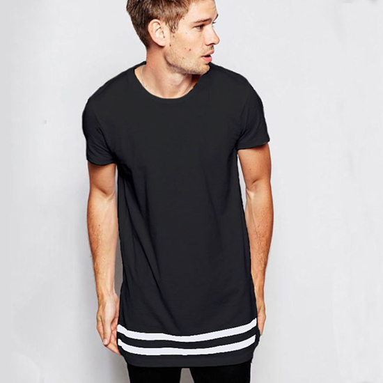 2a0c78cbef854e Black And White Striped Shirt | Short Sleeve Long Hipster Streetwear ...