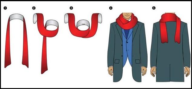 manly scarf knots, men's scarves knots
