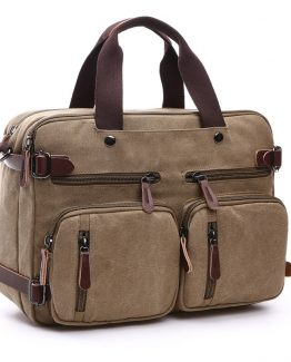 Scione Mens Canvas Laptop Bag | Shoulder Travel Bag
