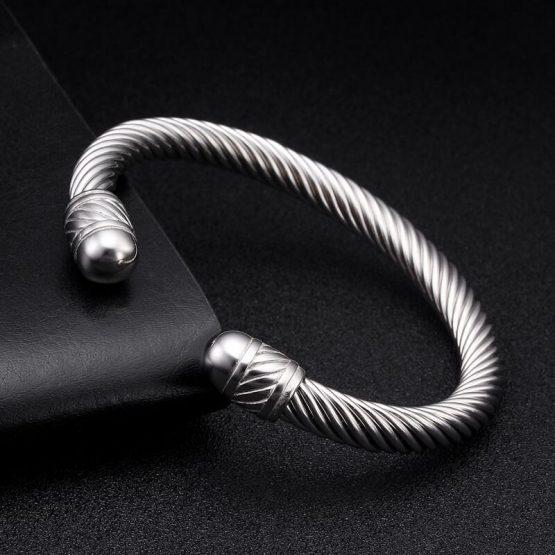 Stainless Steel Mens Cuff Bracelet - 316L Stainless Steel Bracelets