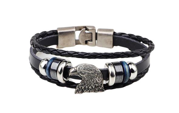 American Eagle Leather Bracelet