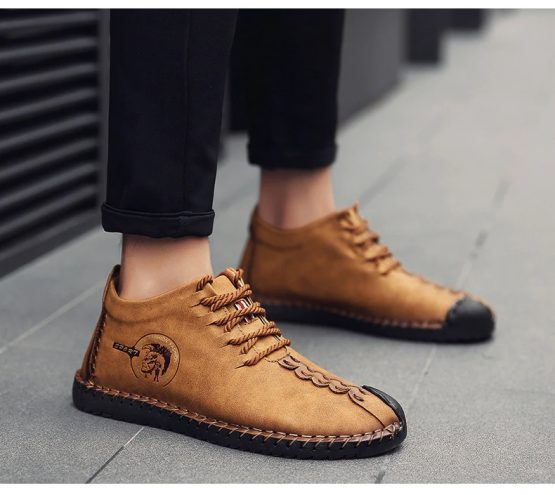 hand stitched mens ankle boots