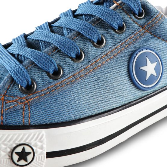 mens denim sneakers, Breathable Lace Up canvas shoes