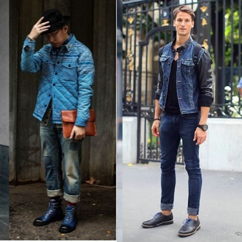 shoes to wear with jeans, blue jeans with blue shoes