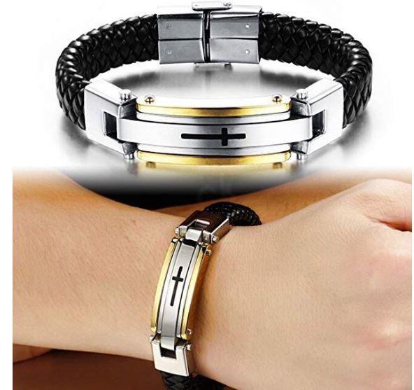 Leather Bracelet Cross