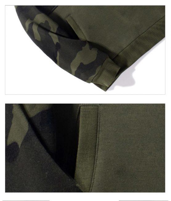 Men's Camo Long-Sleeve, Hoodie with Kanga Pocket