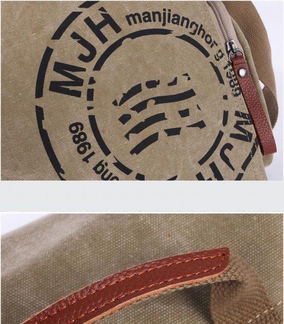 Classic Messenger Bag - Vintage Canvas Shoulder Bag - Postman Bag
