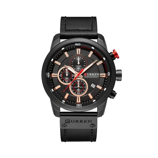 CURREN Mens Luxury Chronograph Sports Watch