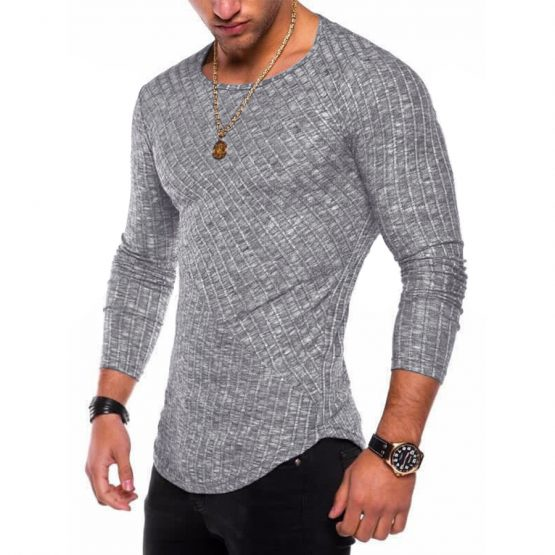 Men Long Sleeve T Shirt, Round Neck Streetwear