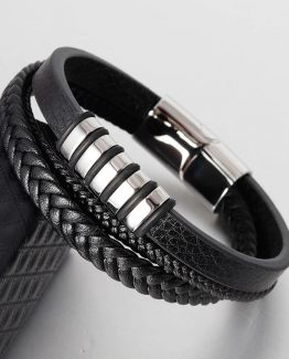 Stainless Steel Mens Braided