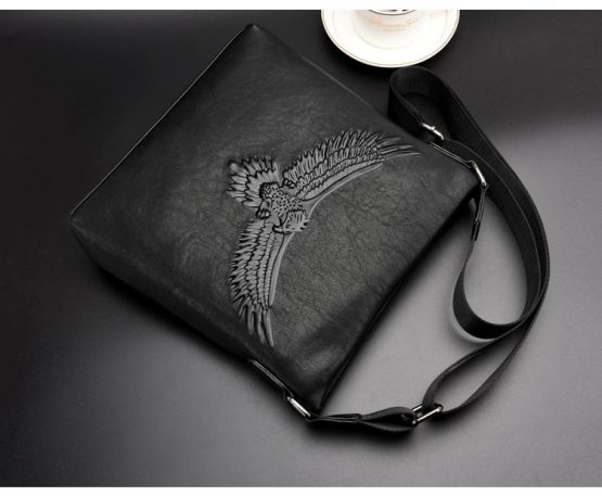 Eagle Embossed Men Messenger Bag