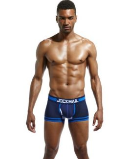 JOCKMAIL Low Waist Mesh Breathable Boxers Underwear