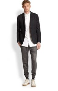 jogger pants and suit