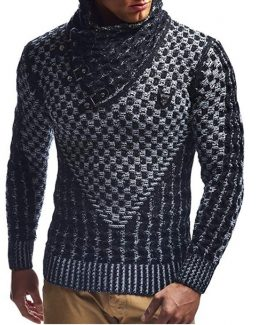 leif nelson mens knitted sweater