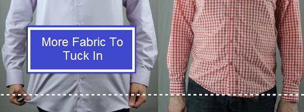 longer shirt vs shorter shirt