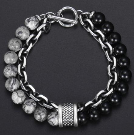 mens beaded bracelets-