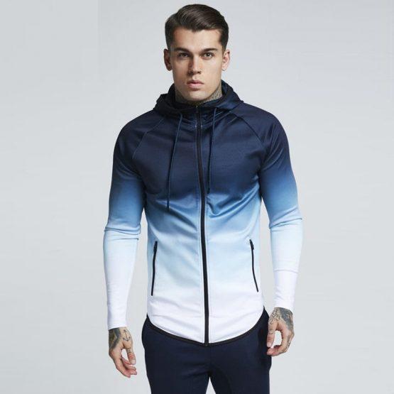 Mens Hooded Long Sleeve Sweatshirt