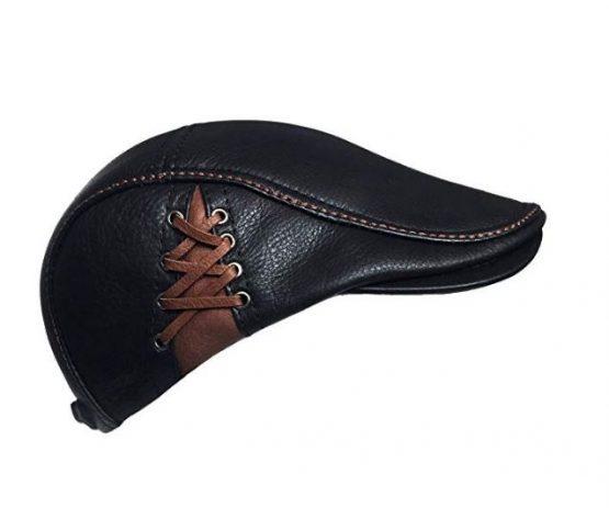 leather newsboy hat